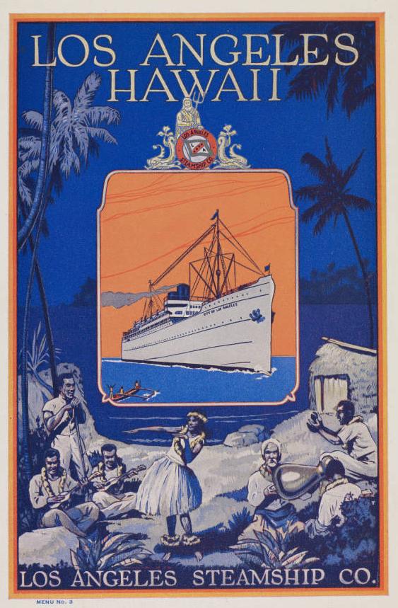 """""""Diner D'Adieu."""" Shipboard dinner menu."""