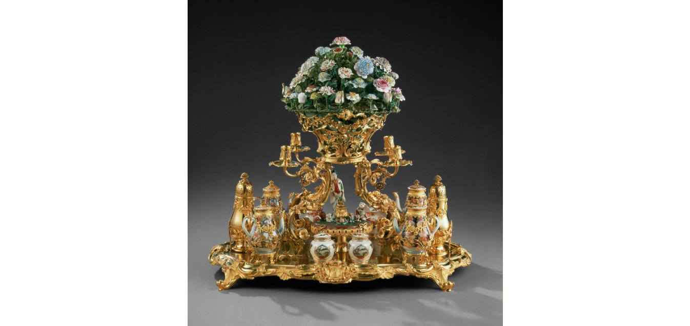 Surtout de table (ornamental centerpiece) made for  Duke Charles Alexander of Lorraine