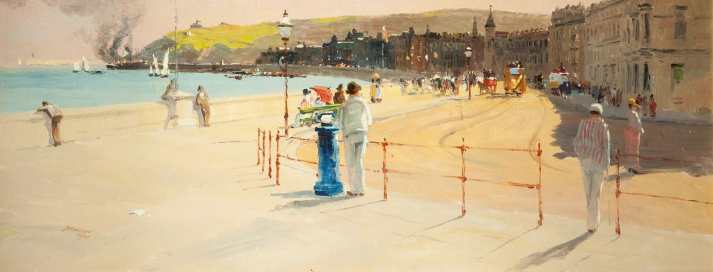 """A Sunny Afternoon on Douglas Promenade."" 1888."