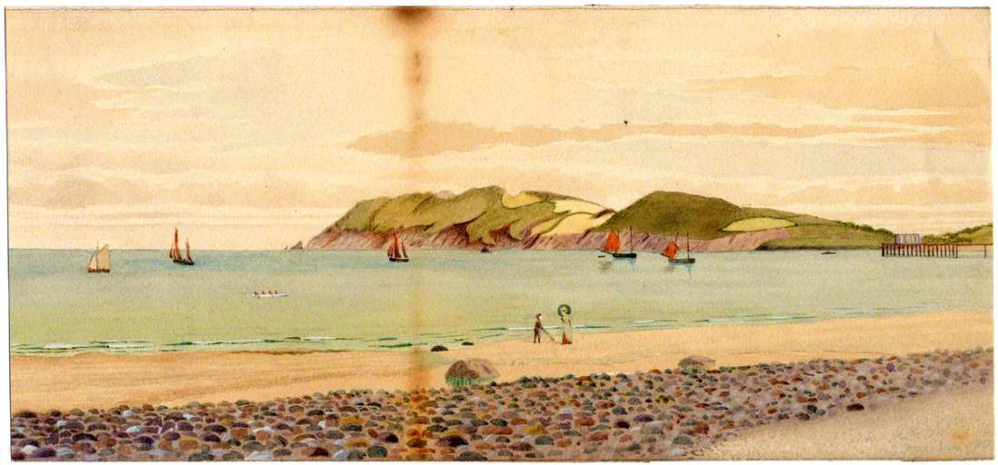 """Maughold Head."" 1890. Watercolor on paper."