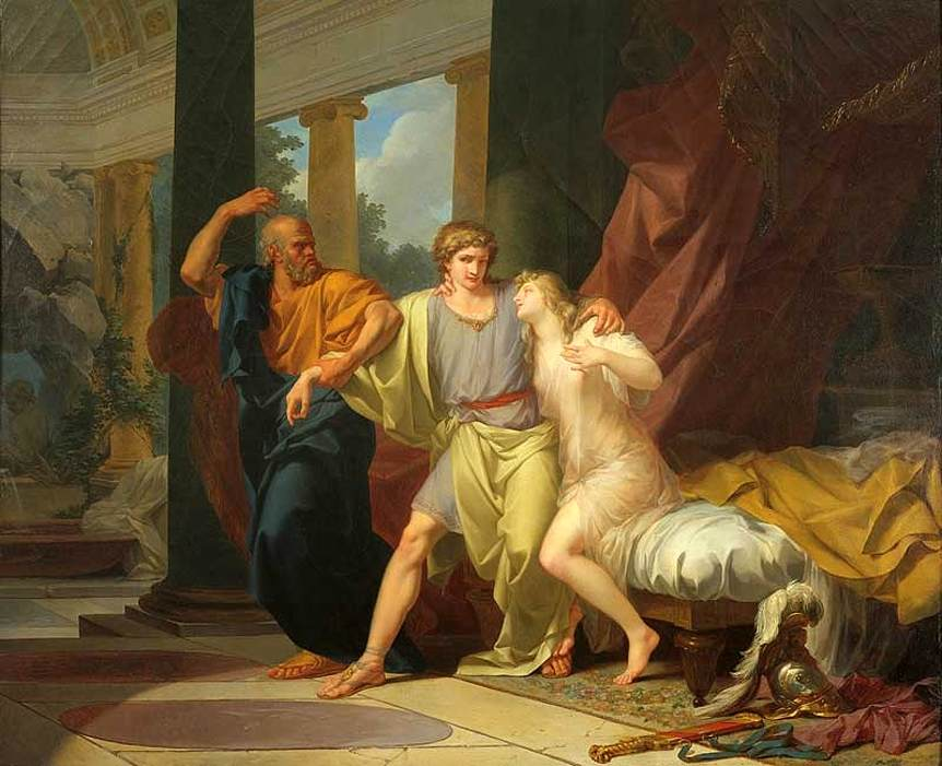 """Socrates Dragging Alcibiades from the Embrace of Aspasia."" 1785."