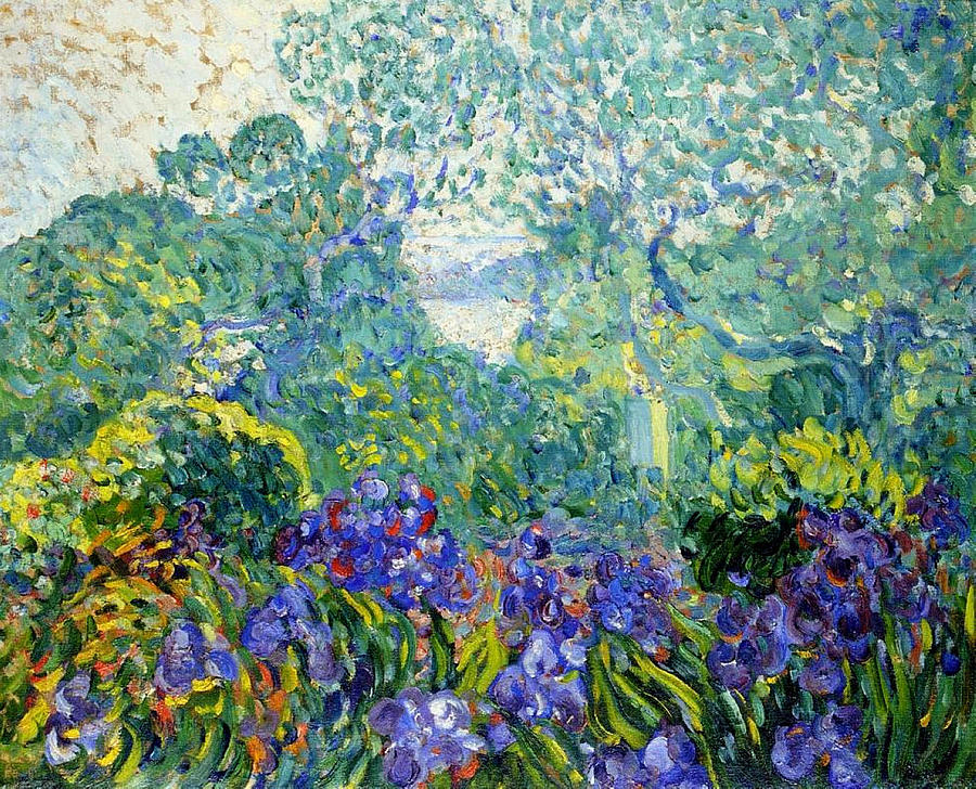 Landscape with Violet Irises. 1903.