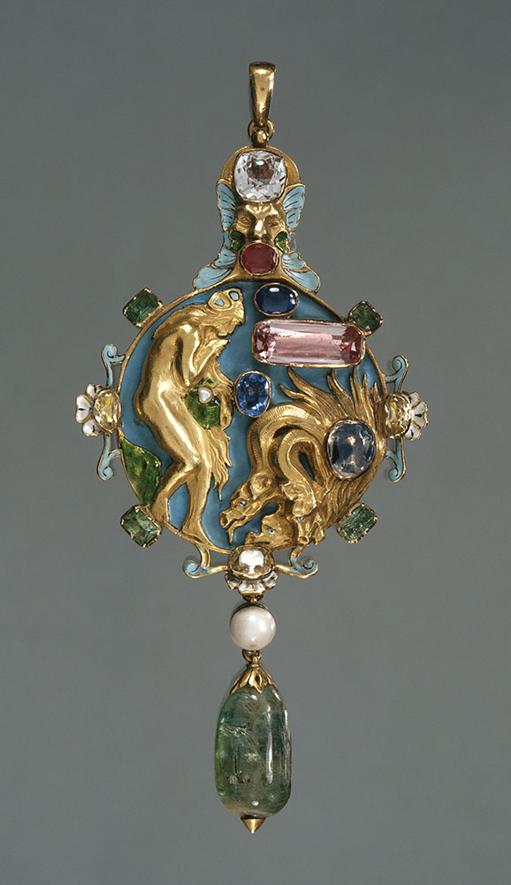 Pendant in the motif of the Descent of Psyche into Hell