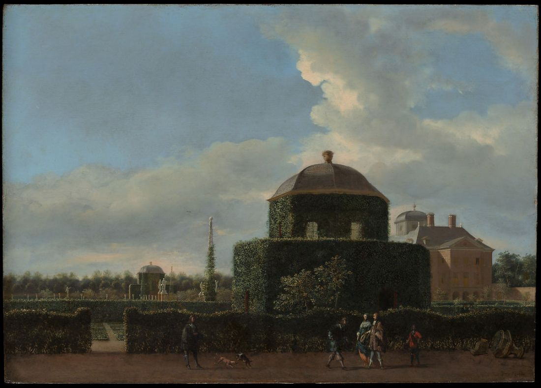 """The Huis ten Bosch at The Hague and Its Formal Garden (View from the East)."" 1668-70."