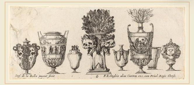 Fantastic vases. Probably 1646.