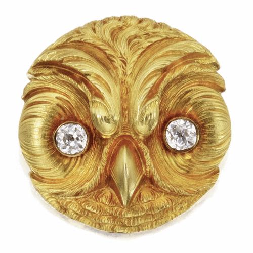Owl brooch. ca. 1875.