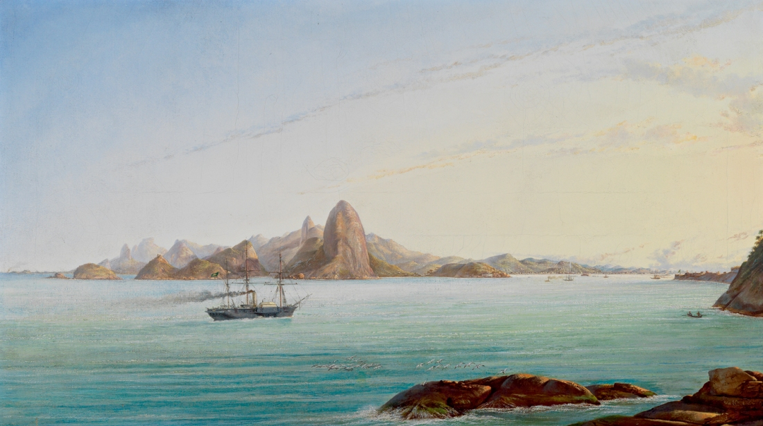 """""""View of the Gulf of Rio de Janeiro."""" 19th c."""