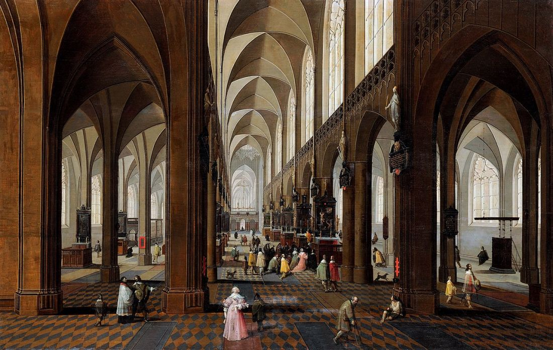 """The Nave of Antwerp Cathedral."" 1650-1700."