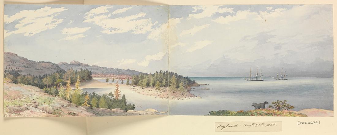 """Hogland, August 24th 1855"" (Finland). 1855."