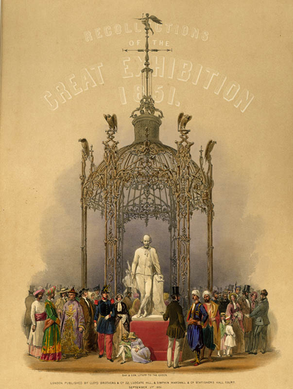 "Title plate from the souvenir folio  ""Recollections of the Great Exhibition, 1850, London, Lloyd Bros. & Company, Sept 1st 1851."""