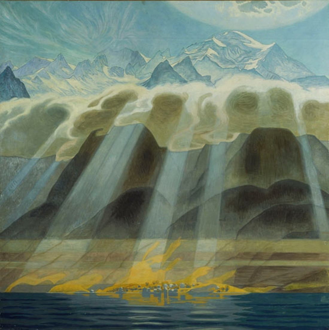 """Sun Over Southern Mountains."" 1902. Oil on canvas."
