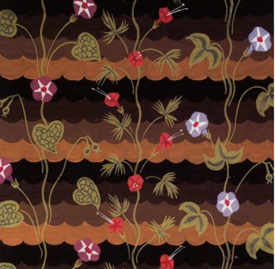 """Morning Glories."" ca. 1925. Design for fabric."