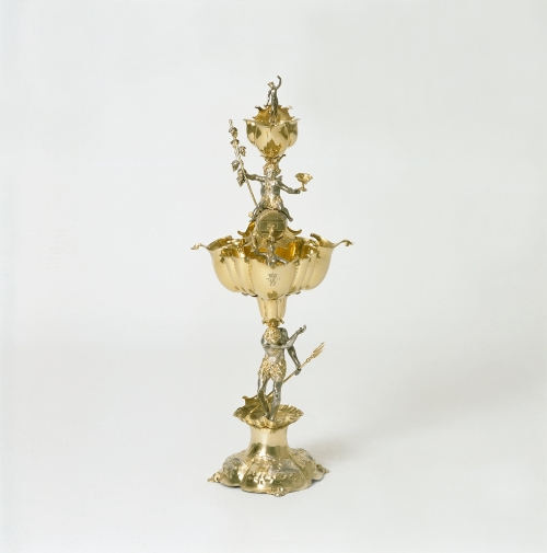 Table fountain. 1638–1641. Partly gilded silver.