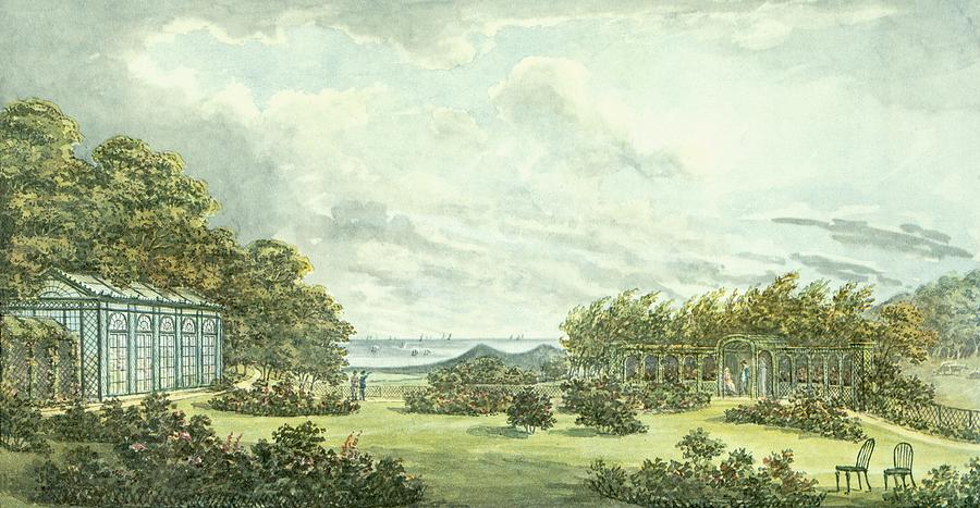 Drawing from the Red Book made for Sheringham Hall. 1812.