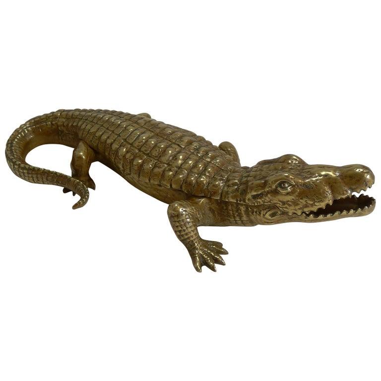 Novelty crocodile/alligator inkwell. ca. 1890.