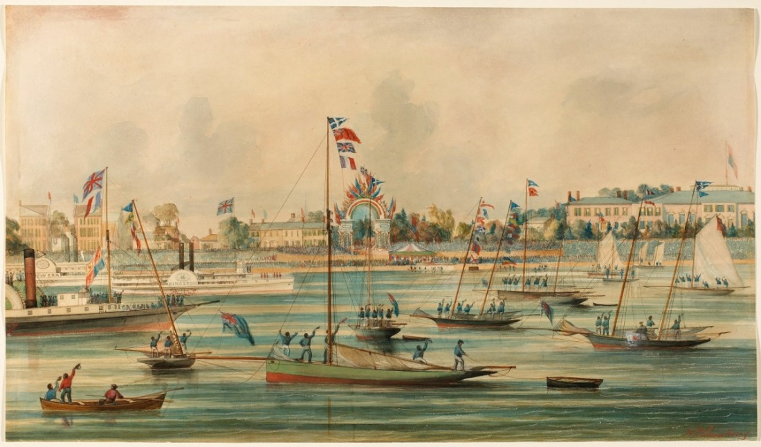 """Arrival of the Prince of Wales at Toronto, September 1860."" 1860."