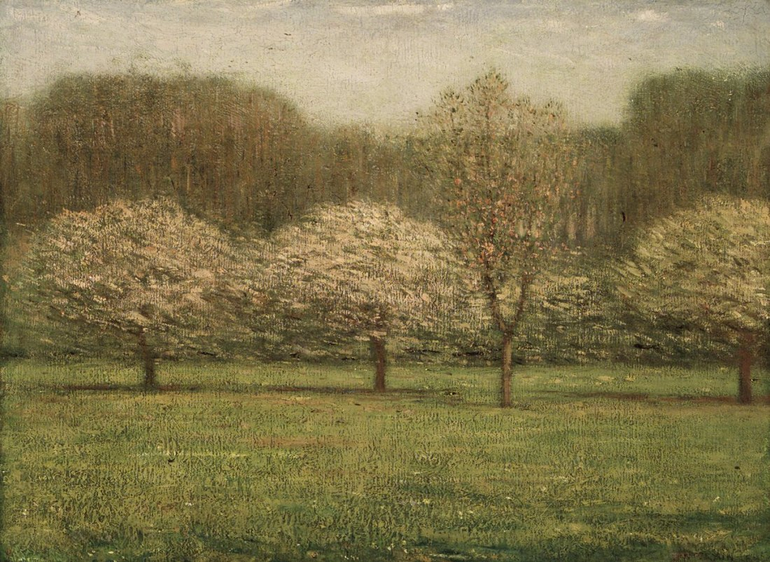 """Apple Blossoms."" ca. 1895."