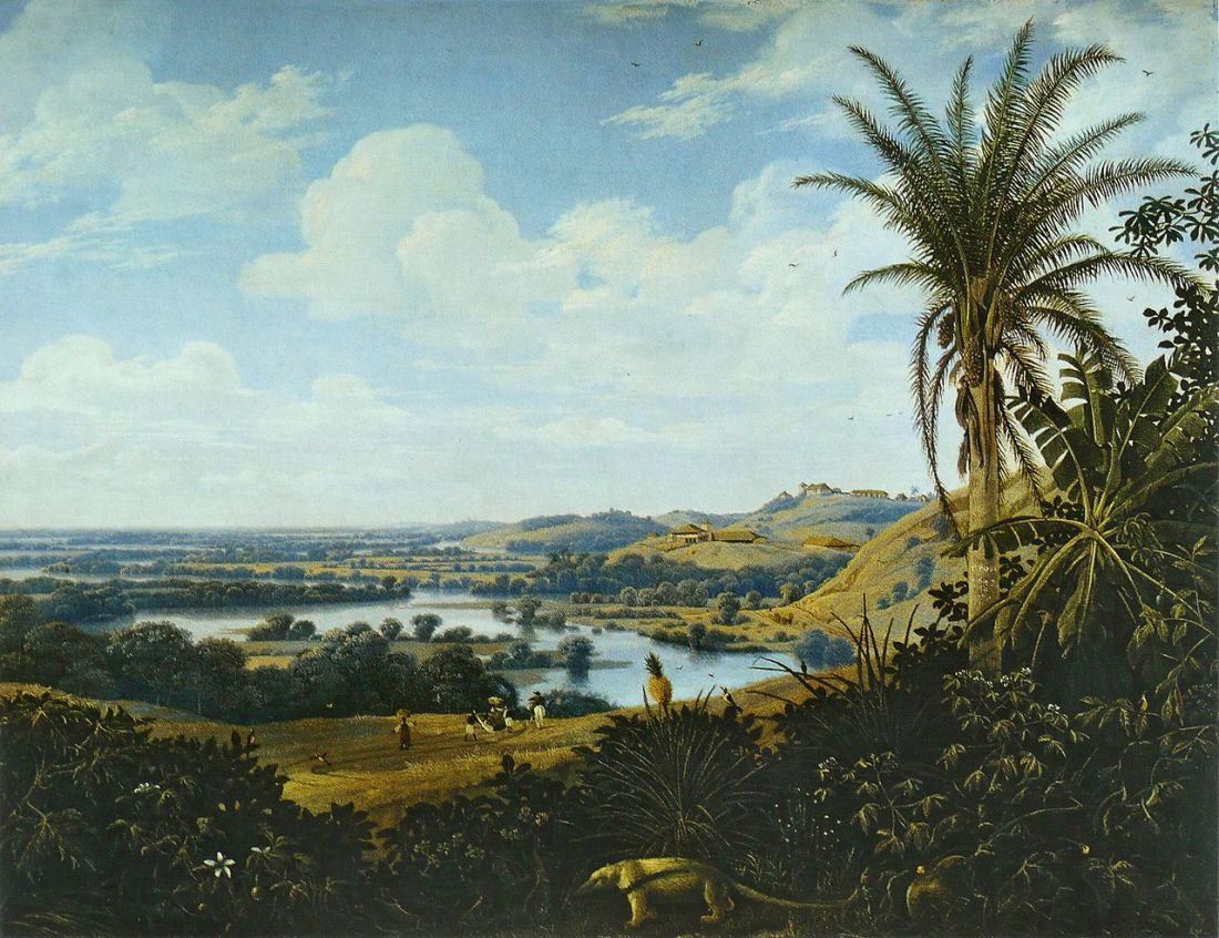 """Brazilian landscape with anteater."" 1649."