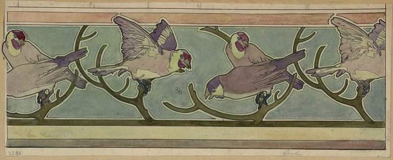 Projet de frise pour papier peint. 1901.