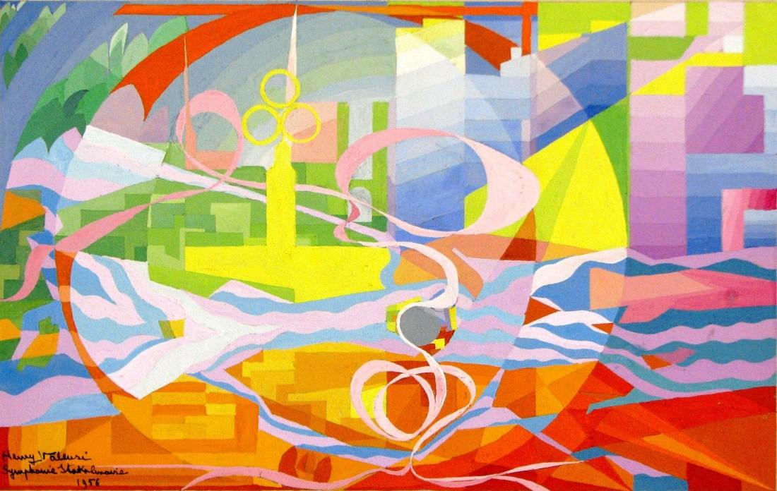 """""""Symphonie stockholmoise (étude)."""" 1956."""