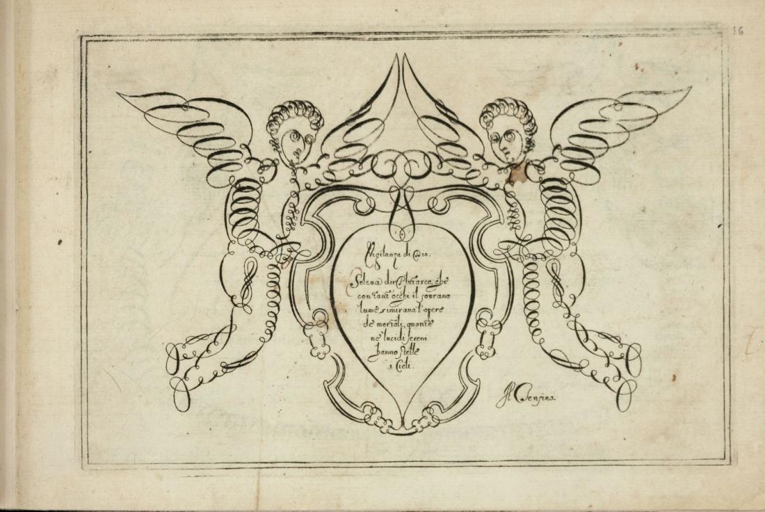 Angels. Engraving.