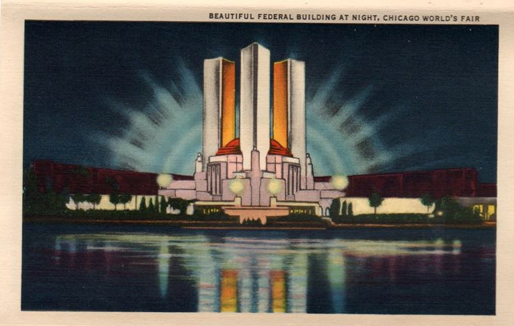"""Beautiful Federal Building, Chicago World's Fair."