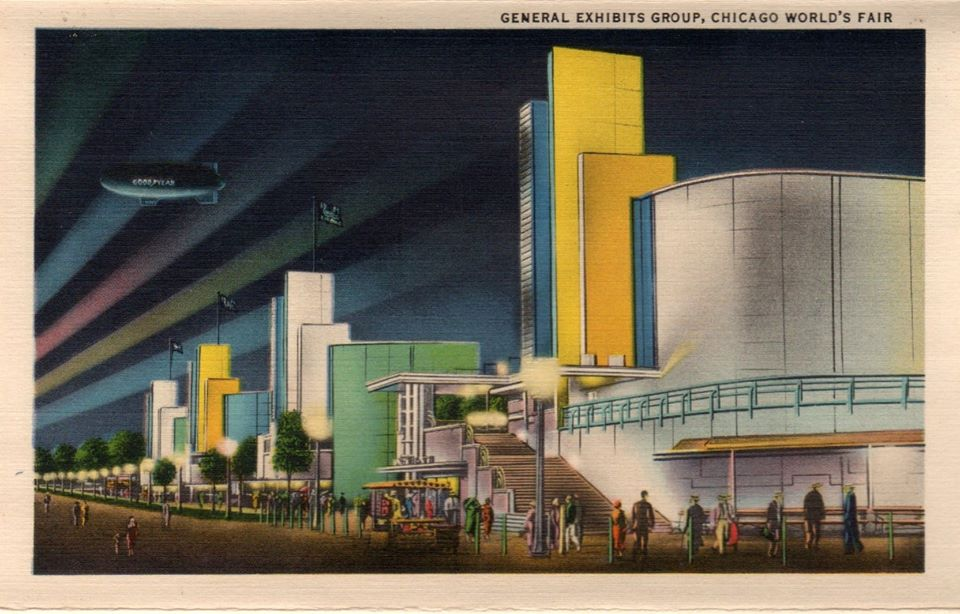 """General Exhibits Group, Chicago World's Fair.""ca. 1933-34."
