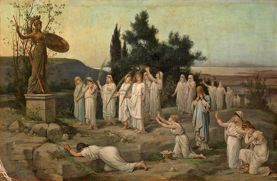adoration-of-the-goddess-pallas-athena-louis-hector-leroux
