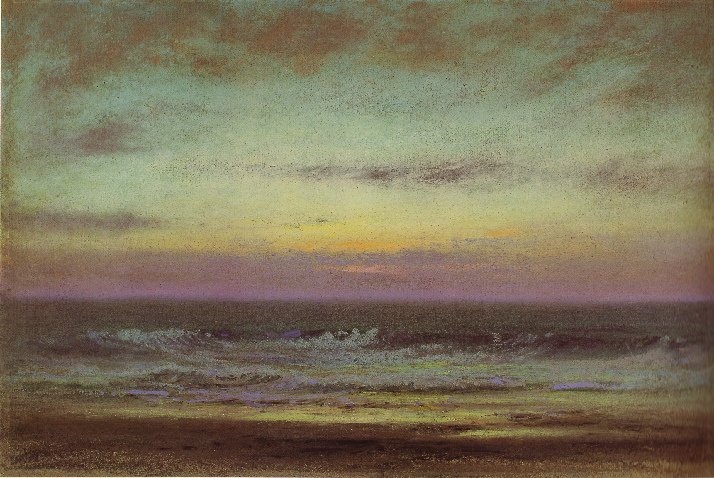 """""""After Sunset looking East."""" 1915. Painting."""