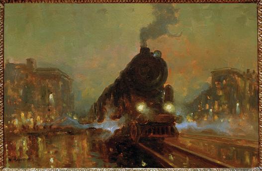 """""""Eisenbahn in Stadtlandschaft."""" ca. 1890."""