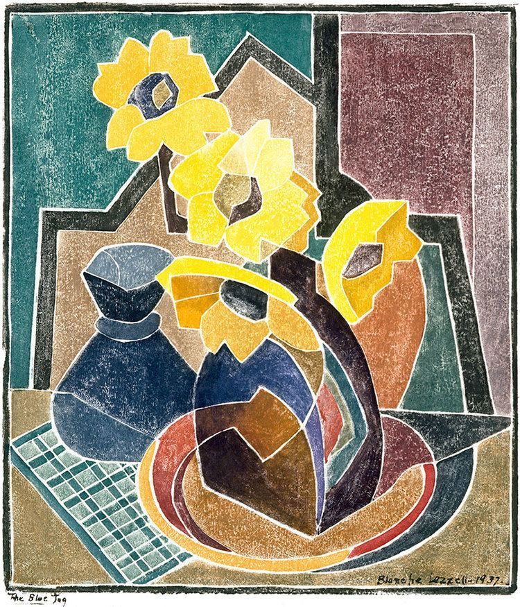 """The Blue Jug."" 1928. Color woodblock."