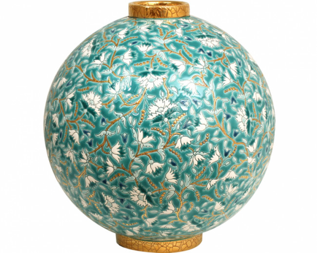 """Astro Ball Flo (Inheritance) "" from the Heritage Collection. Contemporary. French. Green in color."