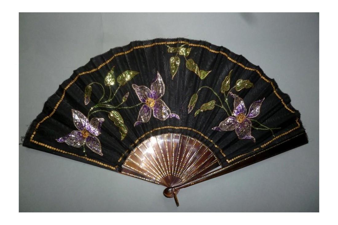 Clematis fan. Art Nouveau in style.