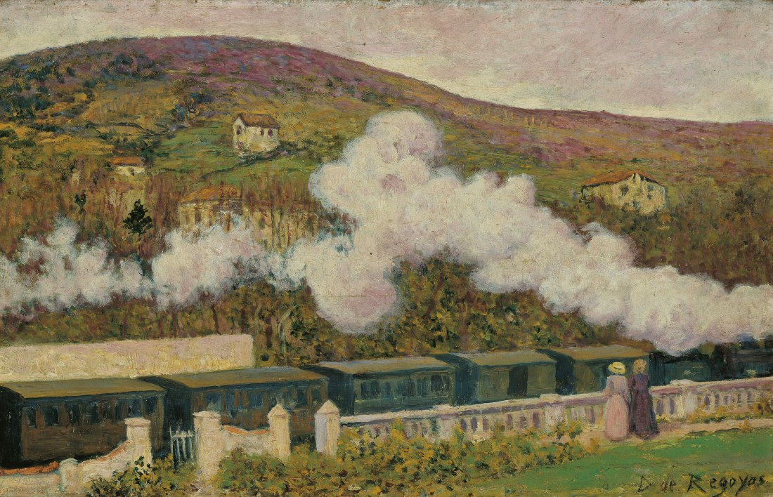 """The Passing of the Train."" 1902. Oil on panel."