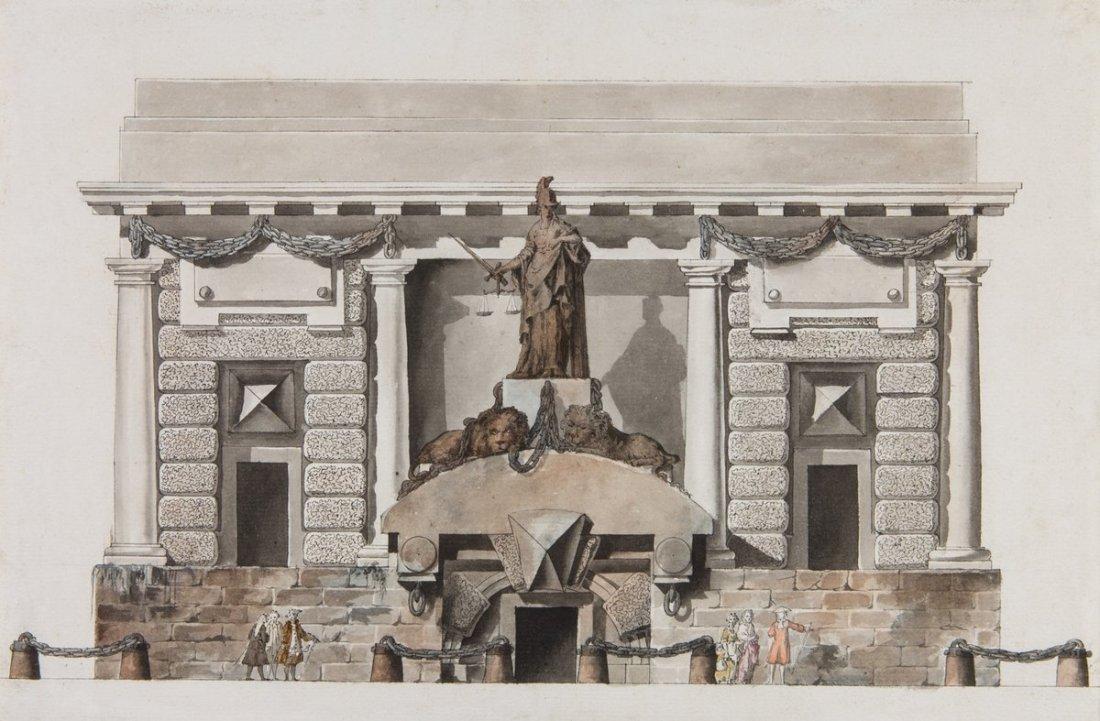 """An Ideal Prison."" ca. 1767."
