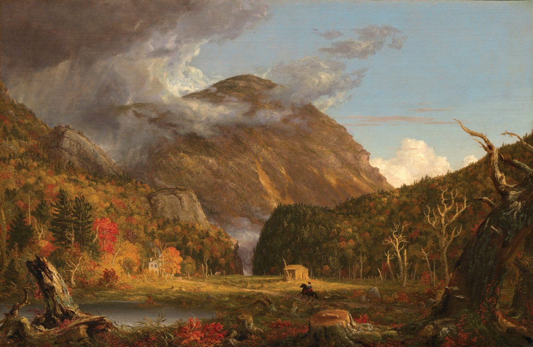 """A View of the Mountain Pass Called the Notch of the White Mountains,"" 1839."