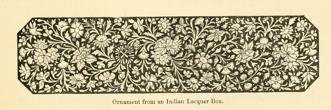 """""""Ornament from an Indian Lacquer Box."""" Page 15."""