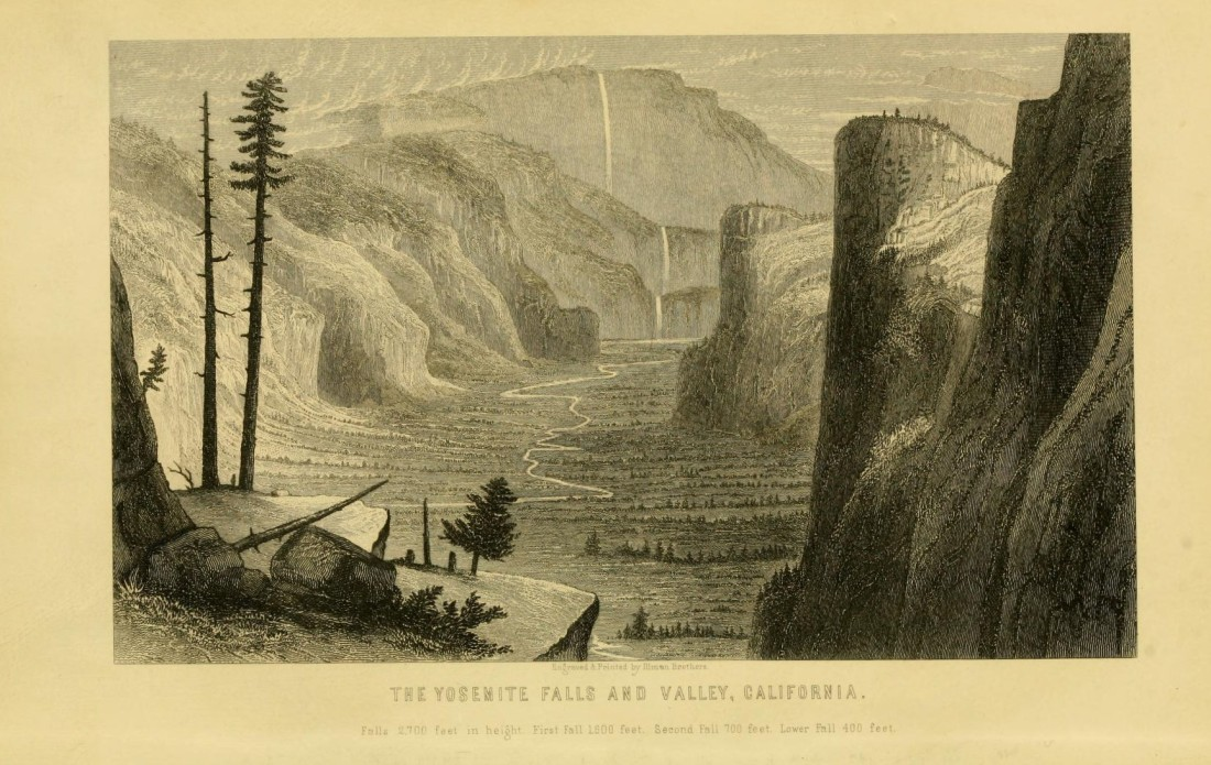 """The Yosemite Falls and Valley, California."" Page 10."