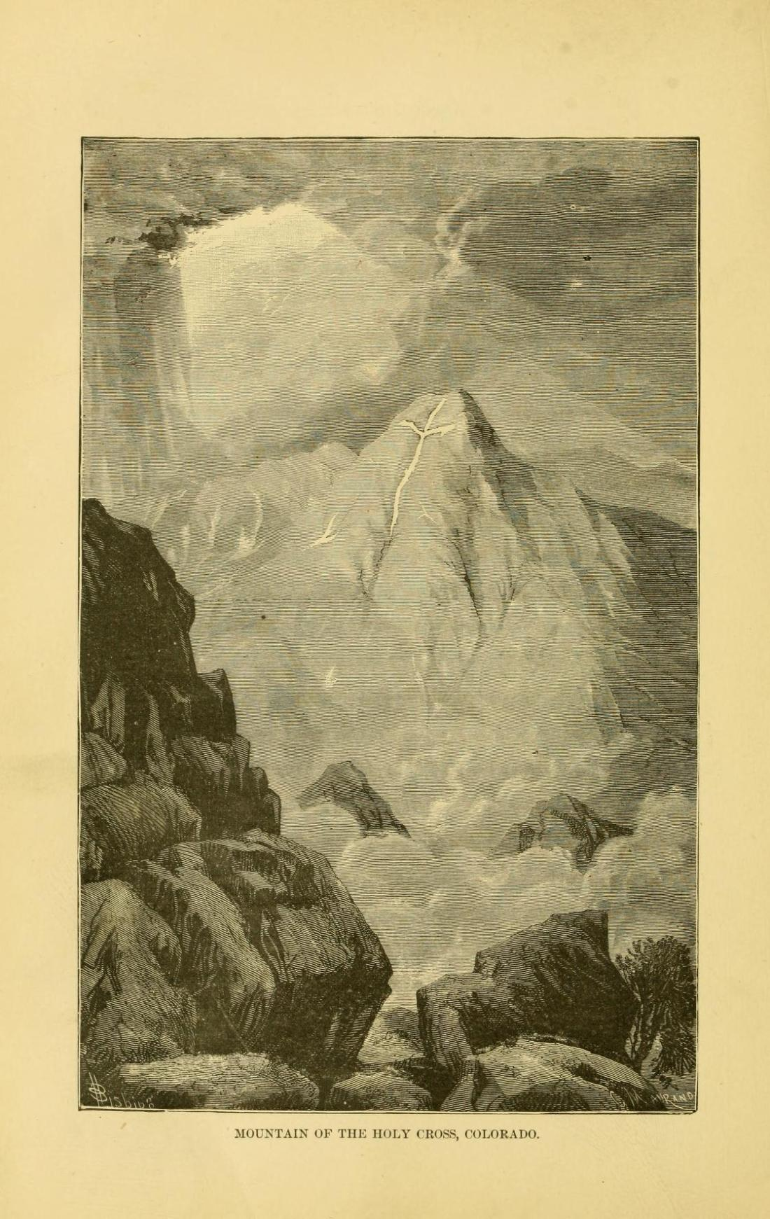 """Mountain of the Holy Cross, Colorado."" Page 126."