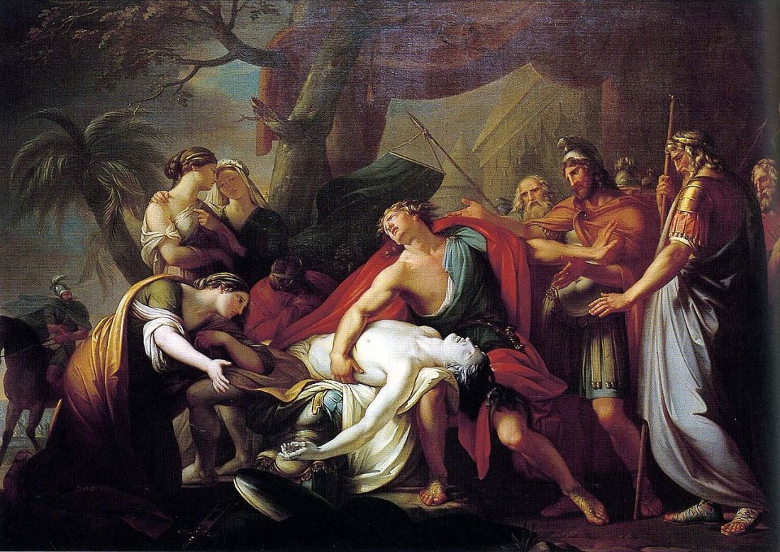 """Achilles Lamenting the Death of Patroclus."" 1760-63."
