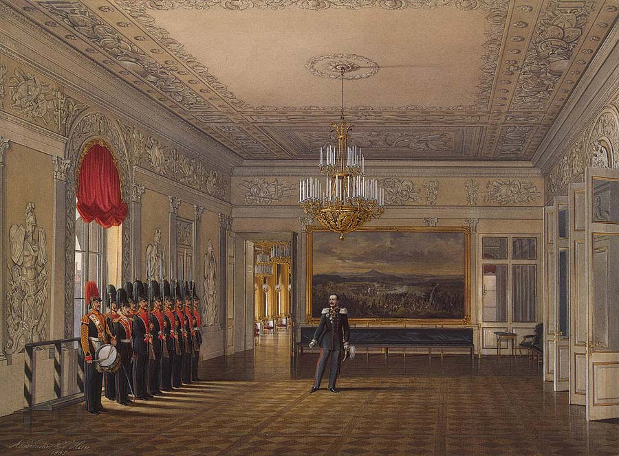 """""""The Picket Room"""" from the series """"Interiors of the Winter Palace."""" 1865."""
