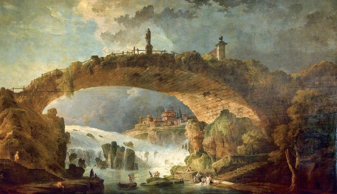 """""""Le Pont Sur Le Torrent."""" 1780's."""