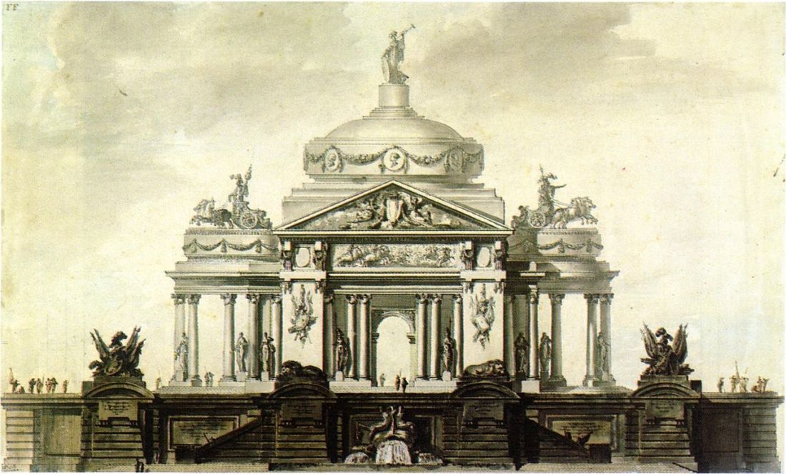"""""""Design for a Monument."""" 1749-89."""
