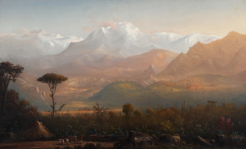 """""""The Heart of the Peruvian Andes—A View from the Arequipa Valley with Mount Chachani in the Distance, Peru,"""" 1877."""