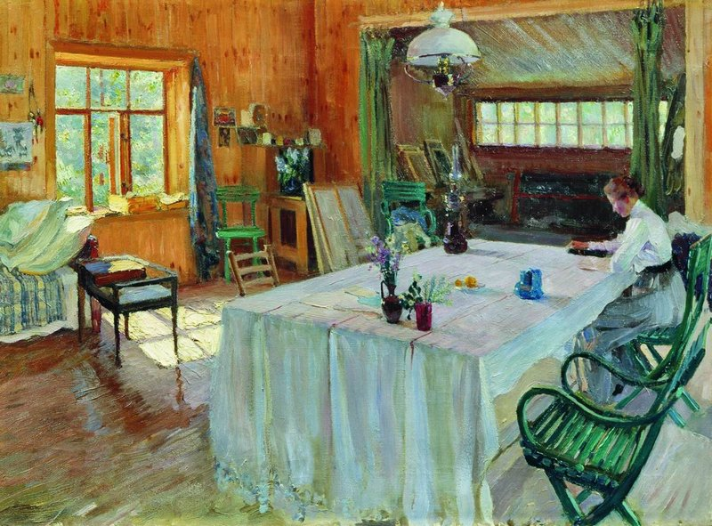 """At Konstantin Korovin's Place."" Before 1938."