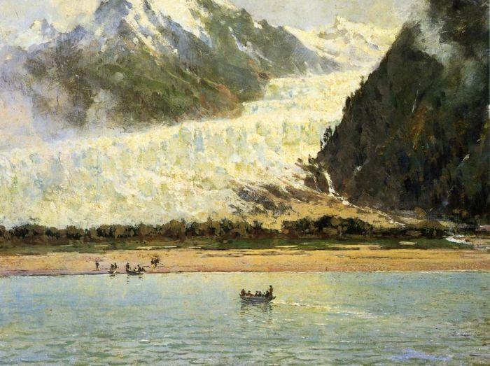 """""""The Davidson Glacier."""" 1888."""