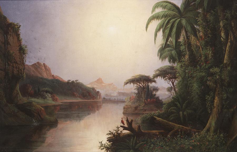 """""""Tropical Landscape."""" 19th c."""