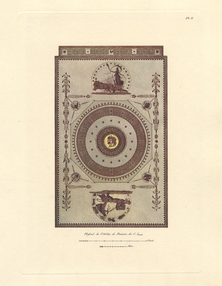 """""""Plafond de l'Atélier de Peinture du C. I------."""" Plate 3."""