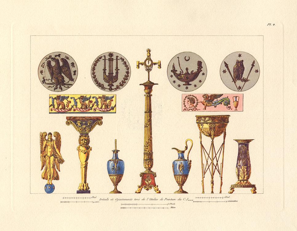 """""""Détails et Ajustements turés de l'Atelier de Peinture du C. I------."""" Plate 4, Cahier 1."""