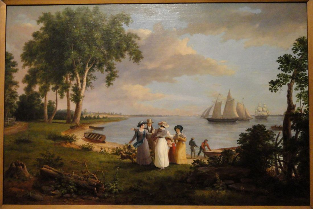 """""""View of the Delaware near Philadelphia."""" Early 19th c."""